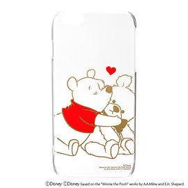 【漢博商城】iJacket 迪士尼 iPhone 6 Plus 金箔押透明硬式保護殼 - 小熊維尼