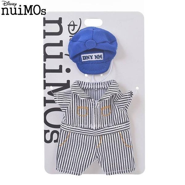 (現貨&日本實拍)日本 DISNEY STORE 迪士尼商店限定 nuiMOs系列專用 玩偶衣物套組 帽子+條紋連身衣服