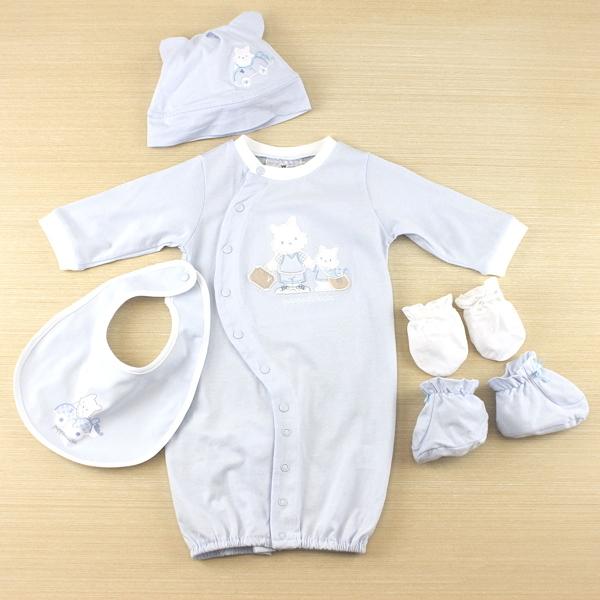 【愛的世界】純棉兩用嬰衣禮盒/3~6個月-台灣製-n66  ---禮盒推薦