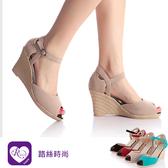 【快速出貨】韓系時尚簡約扣環魚口高跟楔型涼鞋/4色/35-39碼(RX0325-1327) iRurus 路絲時尚