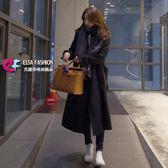 風衣外套 自然柔和雙排釦長大衣 艾爾莎【TAK5946】