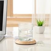 智慧杯墊 木紋簡約usb便攜加熱杯墊 辦公室茶杯水杯暖杯器恒溫寶保溫底座碟 萬寶屋