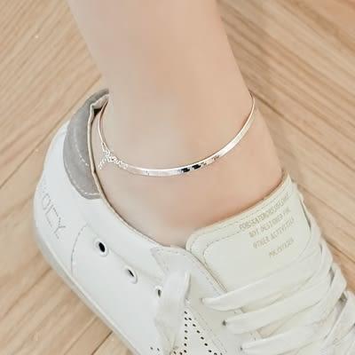 簡約百搭蛇骨鍊情侶腳鍊女日韓國個性飾品韓國學生