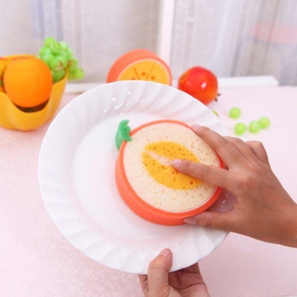 廚房用品   可愛水果造型菜瓜布 廚房清潔 海綿菜瓜布 碗盤清潔 洗手海綿 【KFS056】-收納女王