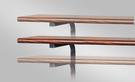 568-3 (整組) 胡桃木紋上架 W100×D45公分