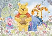 【拼圖總動員 PUZZLE STORY】維尼熊 日本進口拼圖/Epoch/迪士尼/108P/布面