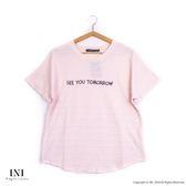 【INI】自在美感、率性質感紋路舒適上衣.粉色