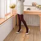 300D條紋時尚顯瘦褲襪絲襪 (酒紅色)