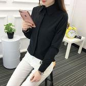 2018新款黑色襯衫學生襯衣氣質打底上衣
