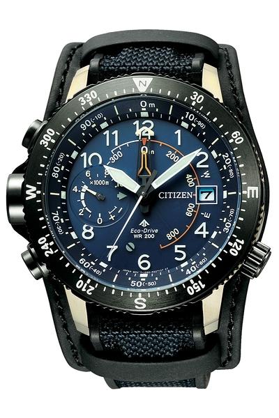 CITIZEN 星辰 LAND 系列-30週年限量腕錶 (BN4055-19l)新技術處理的鈦金屬 登山錶 46mm