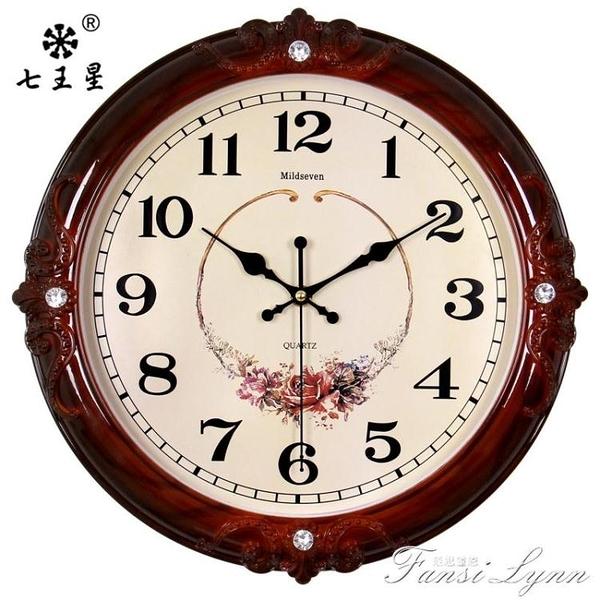 鐘錶掛鐘客廳簡歐式時尚個性創意電子石英鐘家用靜音時鐘掛錶墻上 中秋節全館免運