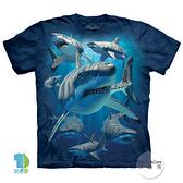 【摩達客】(現貨)美國進口The Mountain 鯊魚覓食 純棉環保藝術中性短袖T恤