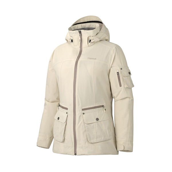 [Marmot] Slopeside (女) 防水透氣雪衣 白 (M75560-3070)