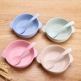兒童吃飯碗寶寶防摔湯碗家用面碗可愛碗勺子日式餐具