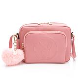 PLAYBOY-  斜背包 Morandi莫蘭迪系列 -粉紅色