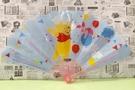 【震撼精品百貨】Winnie the Pooh 小熊維尼~扇子-藍#95517