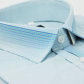 【金‧安德森】藍綠色漸層變化領窄版短袖襯衫