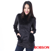 BOBSON 女款毛絨布連帽上衣(35085-88)