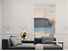 可愛時尚棉麻門簾E740 廚房半簾 咖啡簾 窗幔簾 穿杆簾 風水簾 (65cm寬*90cm高)