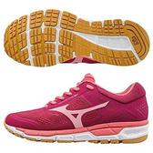 Mizuno SYNCHRO MX 2 W 女鞋 慢跑 寬楦 網布 輕量 透氣 粉 【運動世界】 J1GF171967