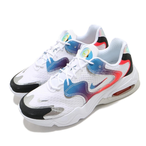 Nike 休閒鞋 Wmns Air Max 2X 白 藍 女鞋 Have A Good Game 電動主題設計【ACS】 DC0837-190