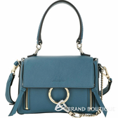 CHLOE Faye Day 迷你款 小牛皮手提肩背兩用包(復古藍)) 1840204-16