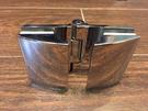 【麗室衛浴】美國KOHLER TRILOGY 頂級五金鉸鍊  180度 玻對玻/不鏽鋼活動夾具 1210391-SHP