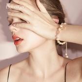 超仙個性魚尾珍珠手鍊ins小眾設計韓版時尚手鐲女甜美簡約手飾潮
