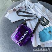 透明小包包女包塑料果凍包休閒百搭單肩斜背包 水晶鞋坊