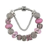 串珠手環-甜美粉色系列水晶飾品精美女配件73kc222【時尚巴黎】
