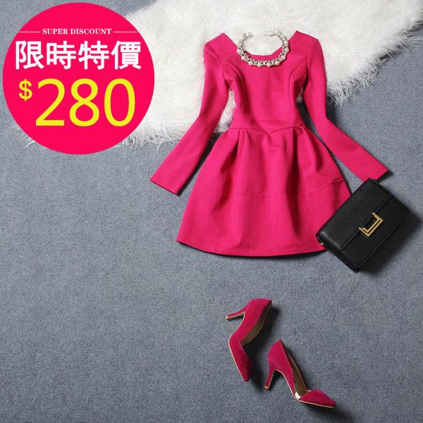 洋裝【152】FEELNET中大尺碼女裝春裝百褶長袖洋裝5XL-6XL碼