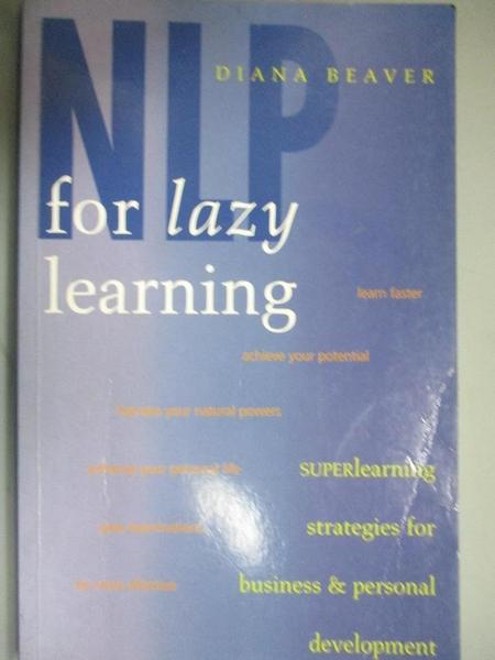 【書寶二手書T1/財經企管_IMO】NLP for Lazy Learning : Superlearning Strategies for Busi