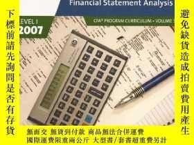 二手書博民逛書店Financial罕見Statement Analysis, Cfa Program Curriculum (20