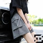 工裝短褲女寬鬆夏季薄款運動五分褲日系闊腿休閒褲【左岸男裝】