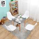 【多瓦娜】亞安安DIY一桌四椅/桌椅組/餐廳組合-二色-CT-02+1501