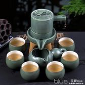 中式復古喝茶茶具套裝半全自動懶人石磨茶壺功夫茶杯泡茶器  YYJ  深藏blue