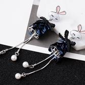 耳環 流行飾覺 S925銀針可愛小兔子珠片流蘇長款耳環日韓個性氣質耳飾【快速出貨八折下殺】
