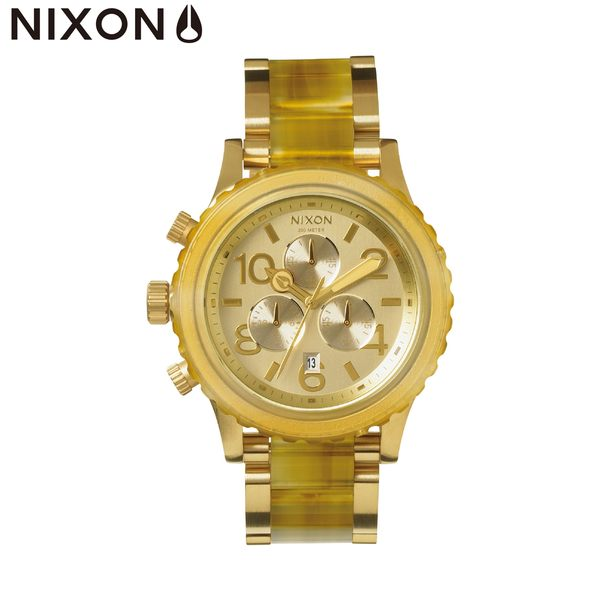 NIXON 原廠總代理 A037-1423 42-20 CHRONO 蜂蜜色 潮流時尚鋼錶帶 男女適用 運動潛水 生日 情人節禮物
