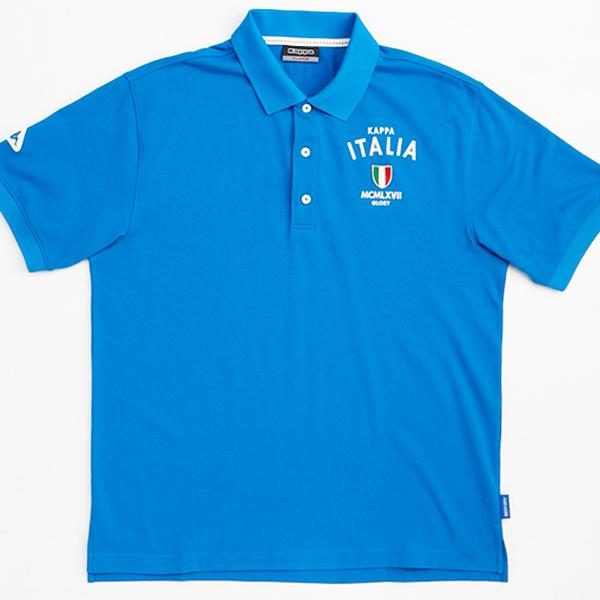 KAPPA義大利型男吸濕排汗速乾BEST DRY 彩色POLO衫 科技藍