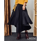 【南紡購物中心】daMIIM質感不規則立體細褶長裙(共二色)
