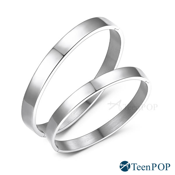 情侶手環 ATeenPOP 西德鋼對手環 愛的紀念 素面 銀色款 送刻字 *單個價格* 情人節推薦