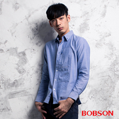 BOBSON 男款胸開袋素面襯衫(35001-58)