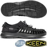 KEEN 1018709黑 Uneek O2 男戶外護趾編織涼鞋 繩編鞋/水陸兩用鞋/運動健走鞋/沙灘戲水鞋