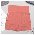 Catworld 撞色文字高腰提臀緊身運動短褲【14001266】‧S-XL