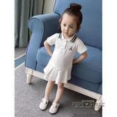 夏裝童裝韓版女童洋裝兒童洋氣公主裙嬰兒小童女寶寶學院風裙子