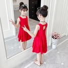 女童連身裙洋裝夏裝2019新款中大兒童背心裙夏季小女孩網紅公主裙洋氣 快速出貨