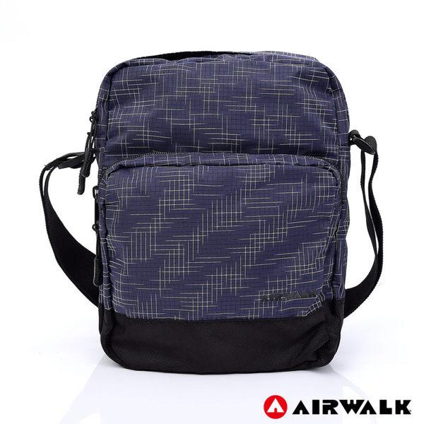 AIRWALK 輕量緹花休閒側背包 -藍色 A755301380