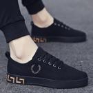 新款韓版潮流春夏季男鞋子百搭休閒帆布板鞋夏天透氣布鞋潮鞋