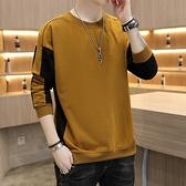 長袖t恤男士新款打底衫韓版寬鬆個性上衣服學生衛衣套頭 雙十二全館免運