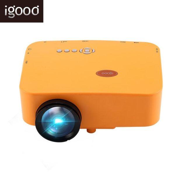 Igood 手機無線便攜式迷你投影儀高清1080p家用3Dwifi微型投影機 Ic486『伊人雅舍』